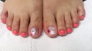 ピンク&お花アート